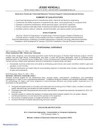 Area Of Expertise Examples For Resume Sample Resume for Electronics Technician Inspirational E Resume 47