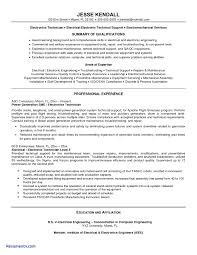 Sample Resume For Electronics Technician Inspirational E Resume