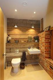 wood tiles for wall rustic bathroom design with reclaimed wood and exposed brick walls wooden wall