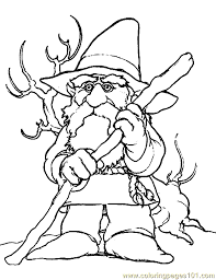 Small Picture Dwarf Gnome Coloring Page 06 Coloring Page Free Fantasy Coloring