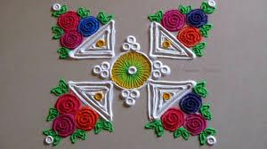 Small Picture Small easy and quick rangoli design Innovative multicolored