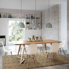 modern dining room table and chairs. modern danish mid century dining suite \u0026 pc natural timber white eames chairs room table and i