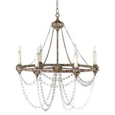 fascinating french country rustic iron white bead chandelier rustic french country chandelier