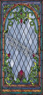 stained glass applique for church windows design in 29 in 29 plain