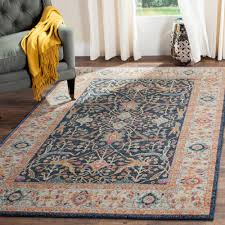 safavieh madison navy cream 4 ft x 6 ft area rug
