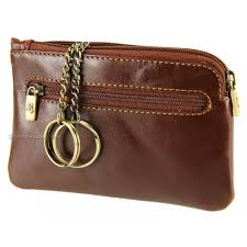 leather key holder zip pouch mz19
