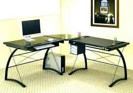 modern l desk black glass special desks ikea