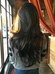 V Hairstyle long dark chocolatebrown wavy hair with layers long wavy 7168 by wearticles.com