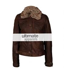 women dark brown leather jacket with fur collar 875x1000 jpg