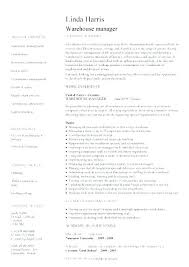 Warehouse Resume Templates Classy Example Of A Warehouse Resume Resume Tutorial