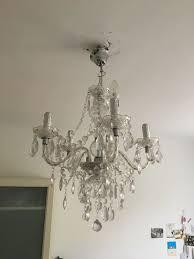Kronleuchter Lampe Kristall Kunststoff