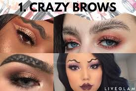 it all started with the squiggle brows created by beauty ger promise tamang back in august that opened the gates for more crazy brow looks