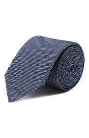 Мужской темно-синий <b>шелковый галстук HUGO</b> — купить за 4800 ...