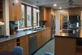 Blue and Tan Kitchen color Scheme