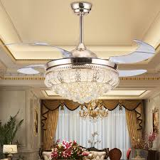 amazing home alluring crystal chandelier ceiling fan of luxury modern lamp folding crystal chandelier ceiling