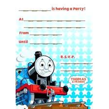 Click To Create This Invitation Free Thomas The Train Invitations