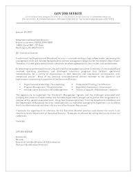 Federal Government Cover Letter Sample Sample Federal Government