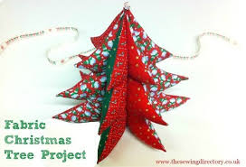 3d fabric Christmas tree project
