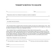 Eviction Letters Templates Adorable Tenant Notice To Vacate Template Day Notice To Vacate Template Move