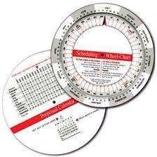 Promotional Calendar Dial Chart