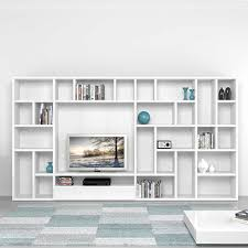 contemporary library furniture. TV Media Unit With Spacious Library Polar By Mobilstella Contemporary Furniture