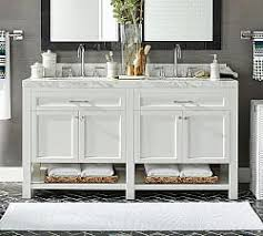 Bathroom double sink cabinets Traditional Double Piedmont Double Sink Vanity Pottery Barn Double Vanities Bathroom Vanities Pottery Barn