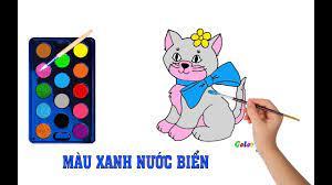 Bé Tập Vẽ Tô Màu Con mèo🐱|Dạy Màu Sắc Hay Nhất Cho Bé|Giúp Bé Thông Minh  Hơn|Coloring Pages animals - YouTube