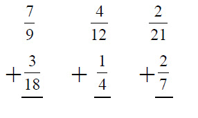 Adding Fractions with Unlike Denominators WorksheetAdding Fractions With Unlike Denominators Worksheet