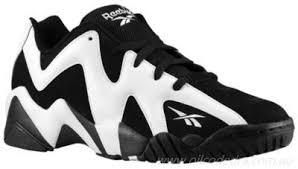 reebok basketball shoes. high cut basketball shoes - mens reebok kamikaze ii low black/white