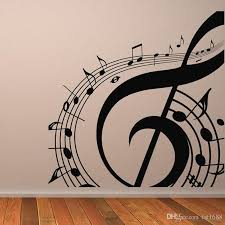 M 003 Diy Musical Notation Home Decor Music Wall Sticker Removable Vinyl  Guitar Music Decal Babys Room Home Decoration Wall Decal Tree Wall Decal  Vinyl From ...