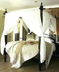 Canopy Bed Bedroom Ideas Curtains Master 4 Poster Decorating ...