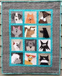 cats n dogs paper pieced quilt made by marney my cats n dogs quilt was inspired by a customer asking for some dog blocks for her son who is a huge dog lover once i start designing blocks for a