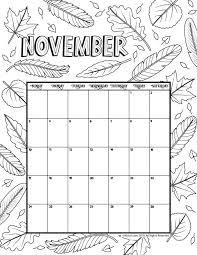November 2019 Coloring Calendar Arts And Crafts Color Kids