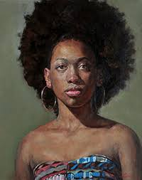 jessica cheng lian oil on canvas 2016 contemporary artist female head african american black woman face portrait painting chenglian