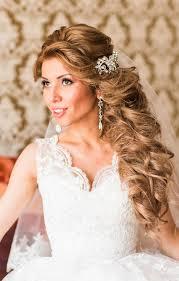 Brautfrisuren Lange Haare Halb Offen Wedding