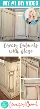 Learn To Paint A Cream Cabinet With Glaze Diy Painting Design