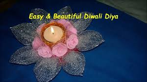 diy how to make beautiful decorative candle diya for diwali at