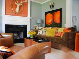 Orange Decorating For Living Room Great Orange Accents In Living Room 57 Regarding Decorating Home