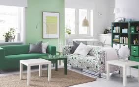 modern ikea lounge room ideas round white coffee table printed curtains colors two white dining chair