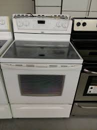 used kitchen stoves glass top stove orig experience white electric