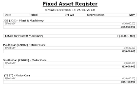 fixed assets format fixed assets register template excel asset format in free