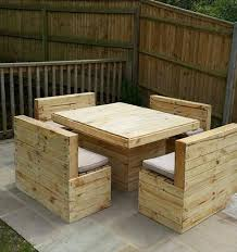 wooden pallet garden furniture. Upcycled Pallet Patio Table And Bench Set Wooden Garden Furniture