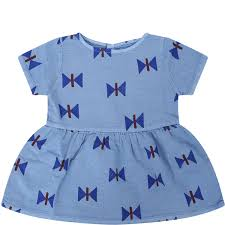 Light Blue Baby Dress Best Price On The Market At Italist Bobo Choses Bobo Choses Sky Blue Girl Dress With Styles Butterflies