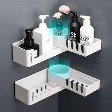 bathroom corner shower shelf rack with