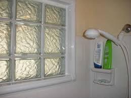 glass block windows in shower