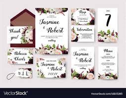 Wedding Invitation Flower Invite Card Design