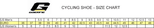 Gaerne Cycling Size Chart Gaerne Cycling Size Chart Gaerne Cycling Shoes Size Chart