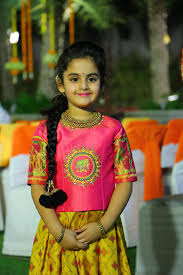 Indian Baby Girl Lehenga Designs Ikkat Lehenga Dresses Kids Girl Kids Blouse Designs