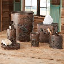 Log Cabin Bathroom Decor Rustic Moose Bear Bathroom Accessories