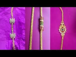 gold mangalasutra chain side lockets